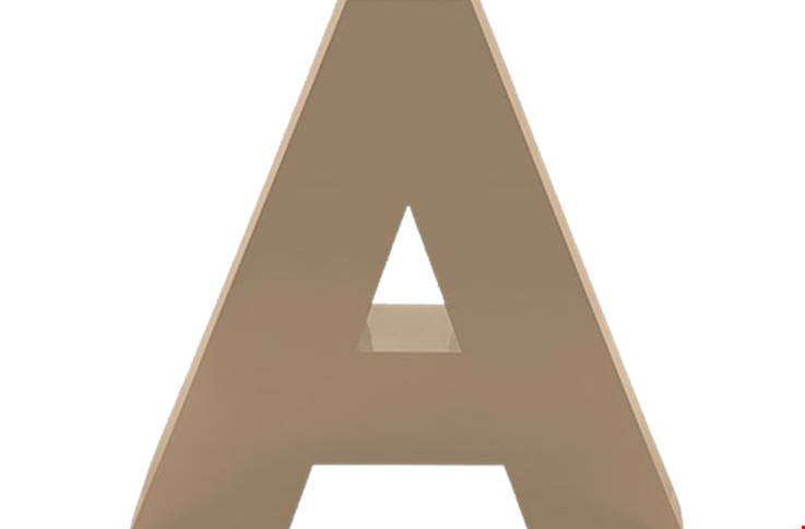 Signs letters logos accessories gemini for Letter a sign